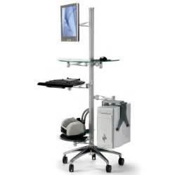 adjustable ergonomic mobile computer workstation