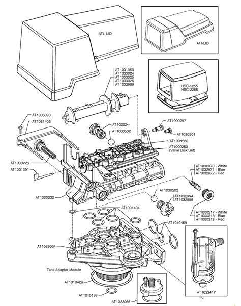 water softener parts diagram autotrol 255 valve assembly