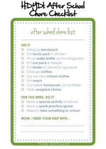 organization ideas free back to school organization ideas free printable after school chore