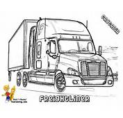 Freight Liner Colouring Pages