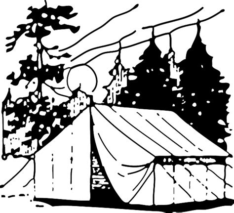 camping tent black  vector graphic  pixabay
