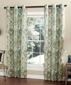 teal ali baba curtain panel set of two