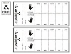 fingerprint template officer s finger print sheet free printable