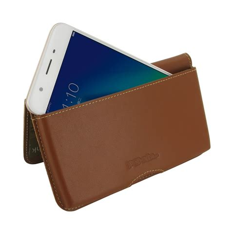 Oppo A57 Flip oppo a57 leather wallet pouch brown pdair sleeve