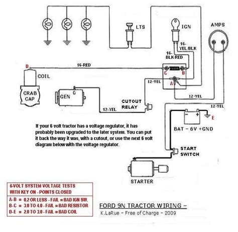 8n 6 to 12 volt wiring diagram 8n get free image about