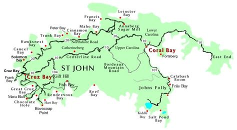 map of st johns islands map of st and st us islands