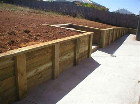 timber pole retaining wall blocks farmhouse design and