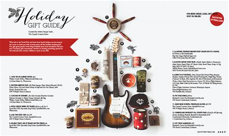 design guide magazine holiday gift guide layout east of the city magazine on
