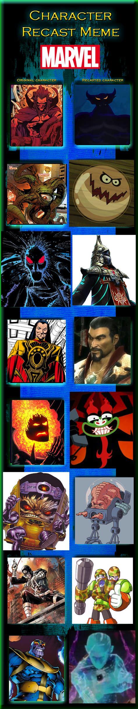 Meme Comic Characters - marvel comics character recast meme part 16 by