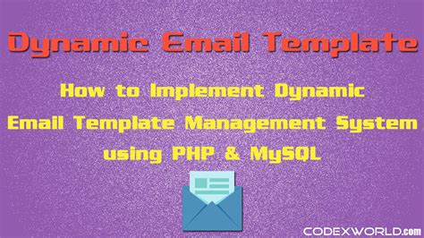 How To Create Template In Php by Creating Dynamic Email Template In Php Codexworld