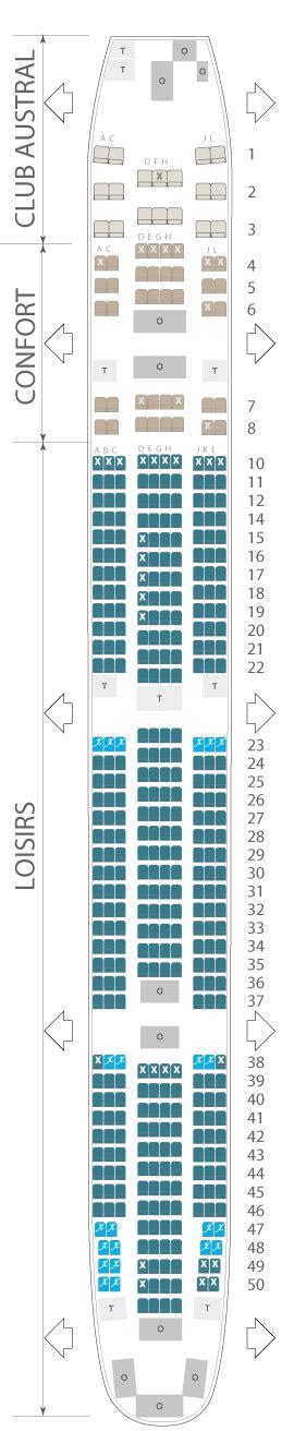Cabin Plan by Boeing 777 300 Er Air Austral Plan Cabine Visite En