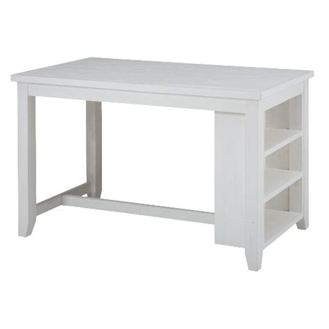 counter height table with storage madaket counter height table with 3 shelf storage wood