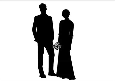 On their wedding day poses designed as a black and white wedding