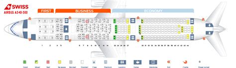 seat map airbus a340 300 swiss airlines best seats in plane