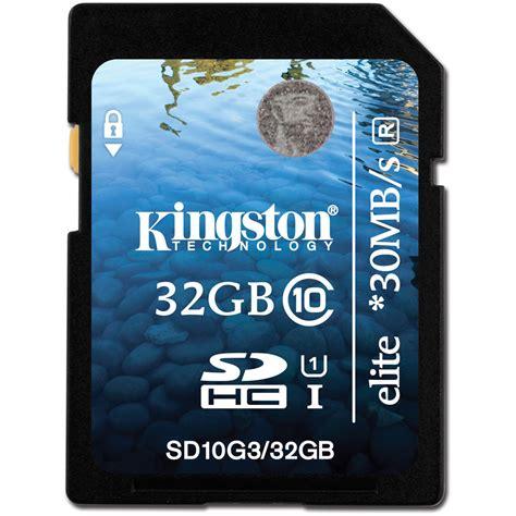 Memory Card Kingston 32gb kingston 32gb sdhc elite class 10 uhs 1 memory card sd10g3 32gb