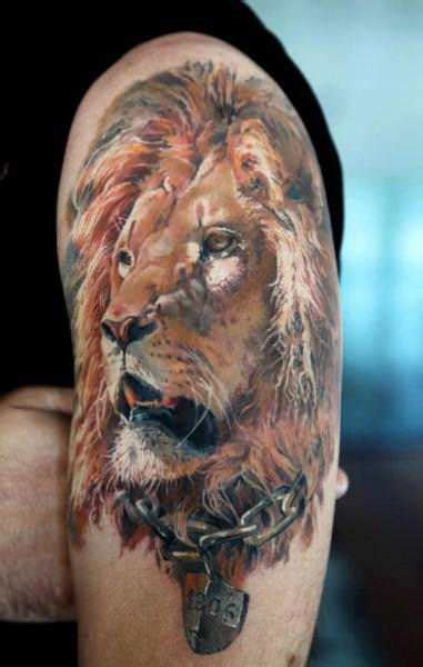 realistic lion tattoo designs tattoos that you can wear with pride 171