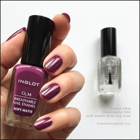 Inglot O2m Breathable Nail Enamel 613 inglot nail review nail review
