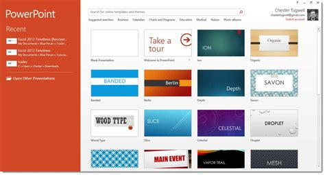 Powerpoint 2013 Start Screen How To Use It How To Powerpoint 2013 Templates Free