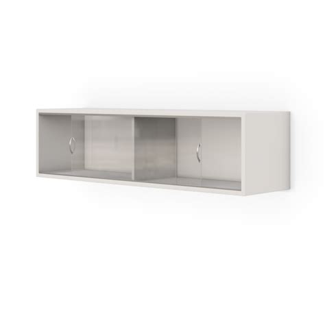 wall mounted storage cabinet with sliding glass door