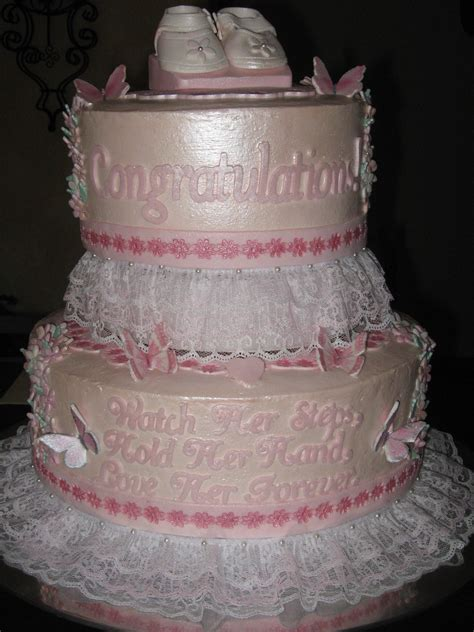 Strawberry Baby Shower Cake by Fresh Strawberry Baby Shower Cake Cakecentral