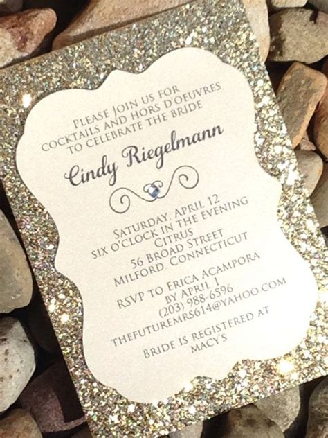 Wedding Invitations Glitter by Bridal Shower Invitation 25 Glitter Bridal Shower