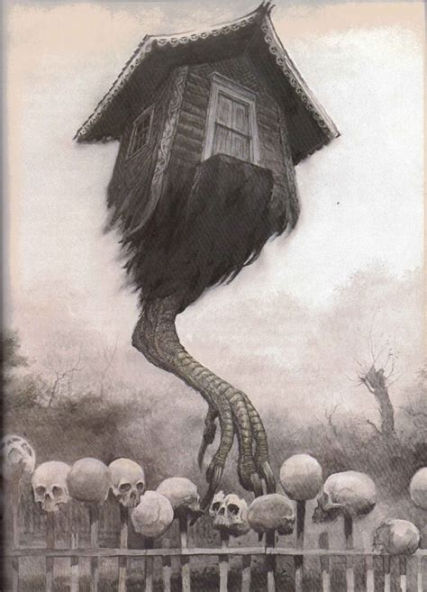 house leg the house on chicken legs the fence of human skulls and bones the goddess diaries