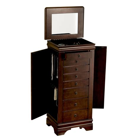 sears jewelry armoire clearance l powell louis philippe quot marquis cherry quot jewelry armoire