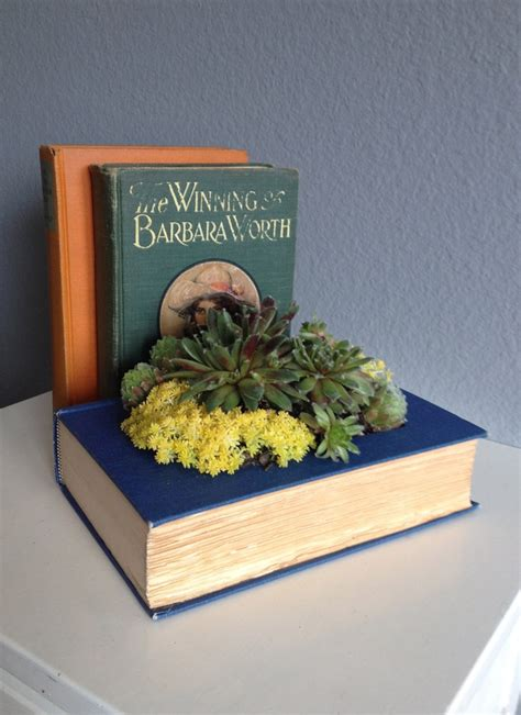 upcycled books upcycled book planter for succulents or flowers