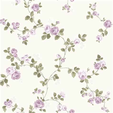 luxury shabby chic vintage purple floral rose trail