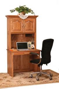 Computer Desk With Hutch Top Amish Flat Top Computer Desk With Hutch Top 36 Quot