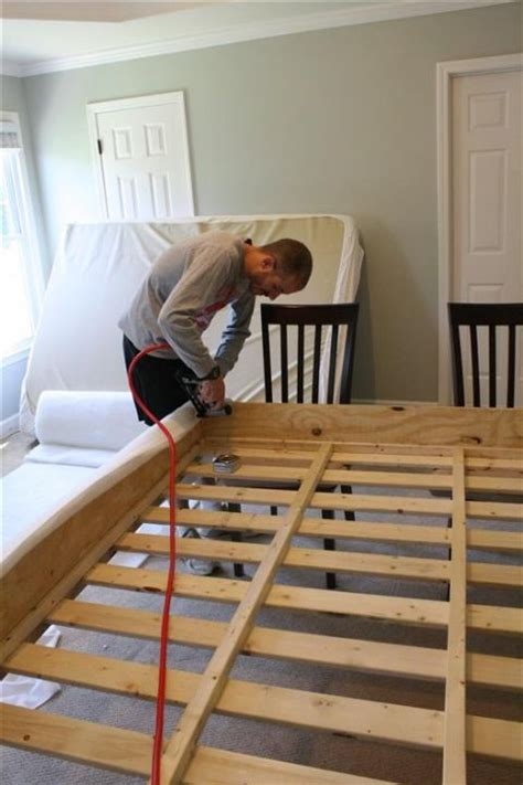 building   bed frame projects   pinterest