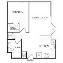 apartment floor plans 1 bedroom 1 bedroom apartments eastown hollywood apartments