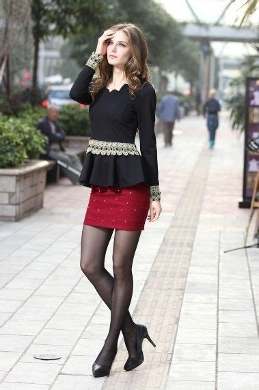 alex jones mini skirt school fashion tights black top and skirt with and