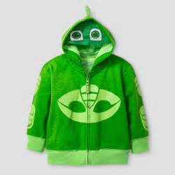 toddler boys pj masks gekko costume hoodie green target