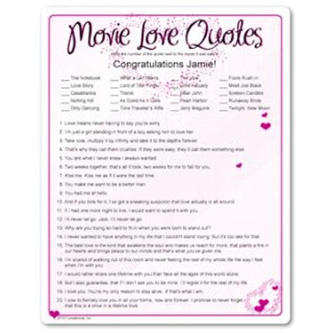 love film quiz every woman has their favorite movie love quote and this