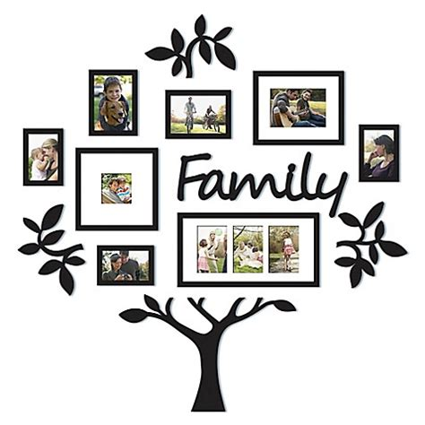 9 piece family tree wall photo frame set hanging frames picture home decor gift ebay wallverbs 13 piece quot family quot tree set in black bed bath