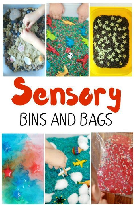 a huge list of sensory bins and bags for kids sensory