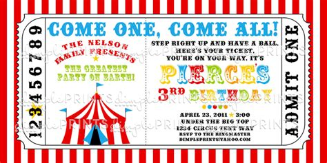 circus ticket template free 5 best images of free printable circus invitations free