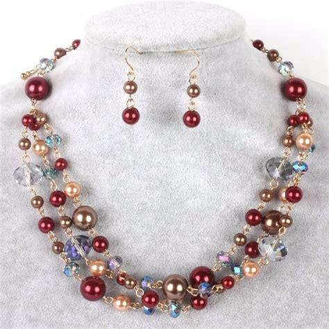 Fina Set set collar pulsera y aretes perla y cristal bisuteria fina