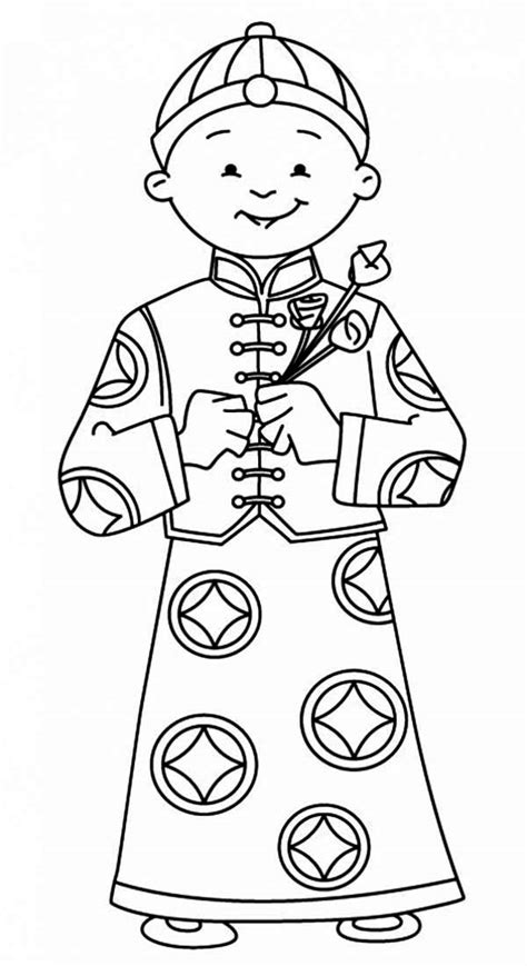 japanese boy coloring page coloring page of asian boy praying chinese boy coloring page