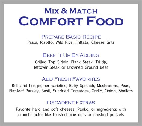list of comfort foods comfort food list