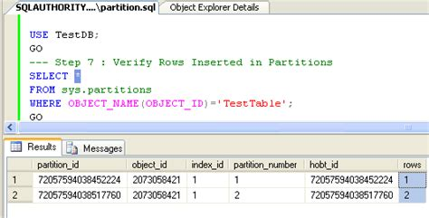 select from tables sql server 2005 database table partitioning tutorial