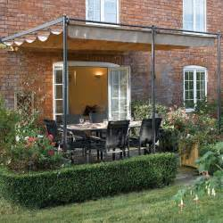 Patio Canapy by 10 10 Quot X 9 11 Quot Ft 3 3 X 3m Retractable Metal Garden
