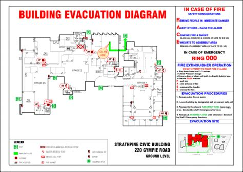 evacuation plan template nsw roscon property services