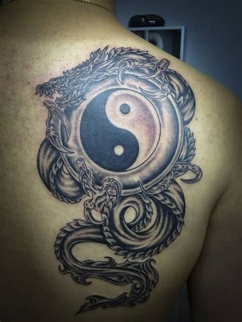 tattoo cover up yin yang upper back cover up with yin yang dragon tattoo golfian com