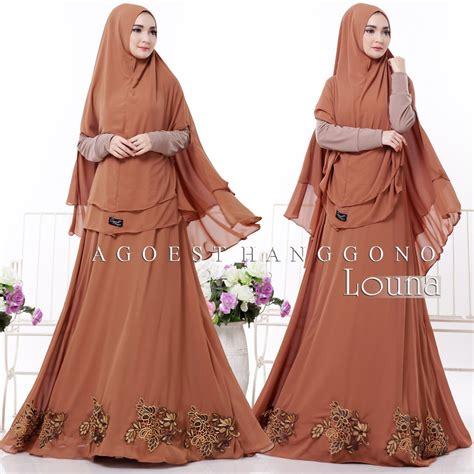 Baju Muslim Gamis Syar I Mb9193 by Model Baju Gamis Syar I Terbaru Louna Agoesthanggono
