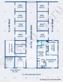 Barn Living Quarters Floor Plans by Horse Barns With Living Quarters Floor Plans