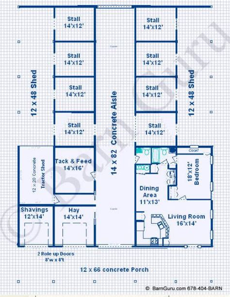 horse barn floor plans horse barns with living quarters floor plans