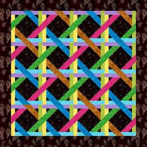free quilt pattern woven ribbons paper pieced block