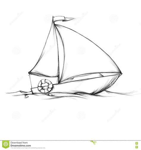 simple small sailboat stock illustration illustration of